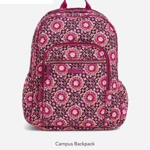 Iconic Campus Backpack in Raspberry Medallion